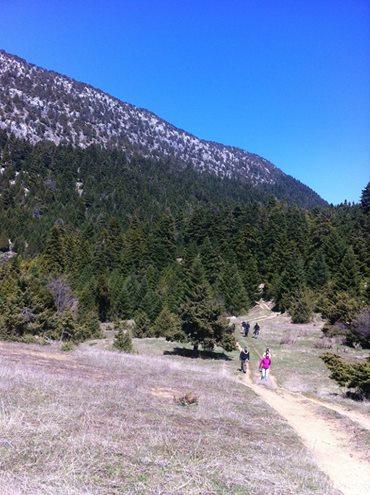 Trekking to Ano Klidonia village