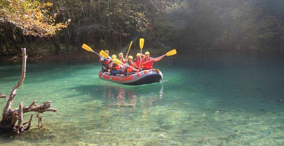 Rafting at Voidomatis river in Epirus