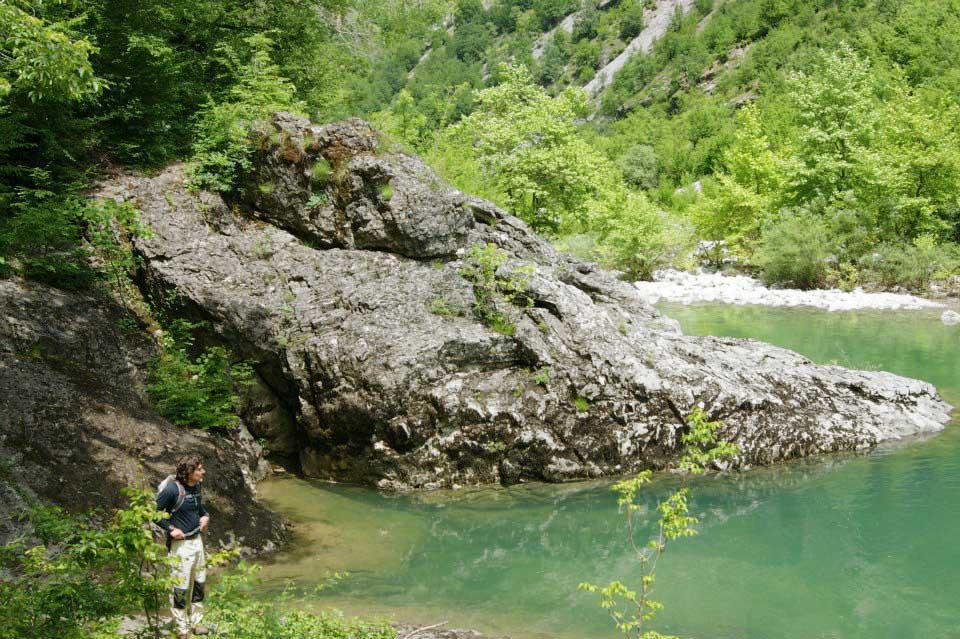 Trekking through Vikos gorge