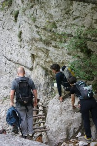 Trekking through Vikos gorge